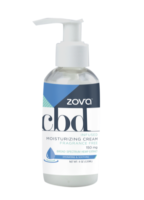 Zova CBD Infused Moisturizing Cream Fragrance Free 150mg 4 oz.