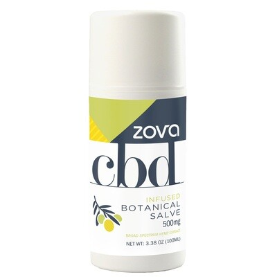 Zova CBD Botanical Salve Infused with 23 Botanicals 500mg 100mL