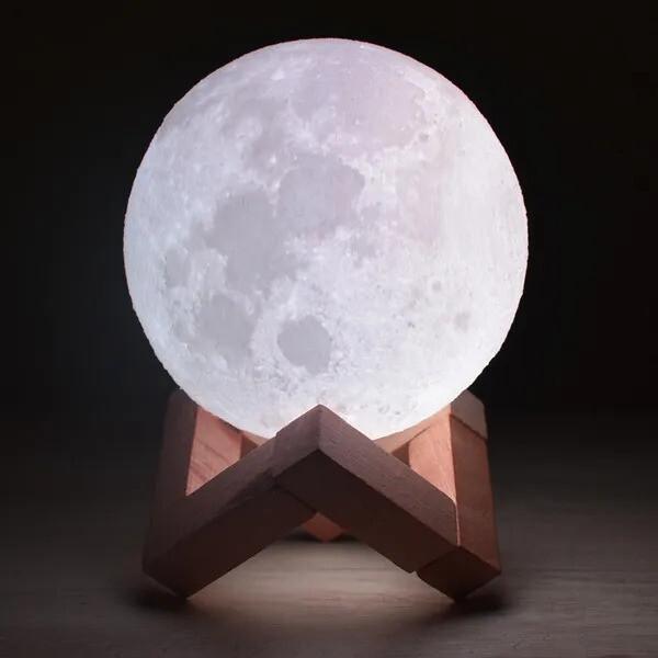 Lámpra Led Luna - Recargable - 16 Colores - 18 cm