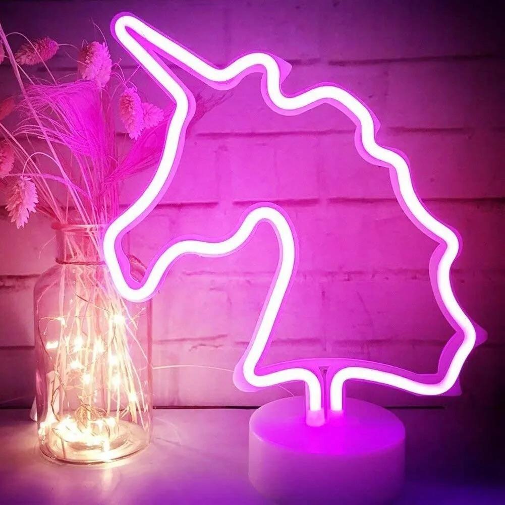 Lámpara Unicornio Neón