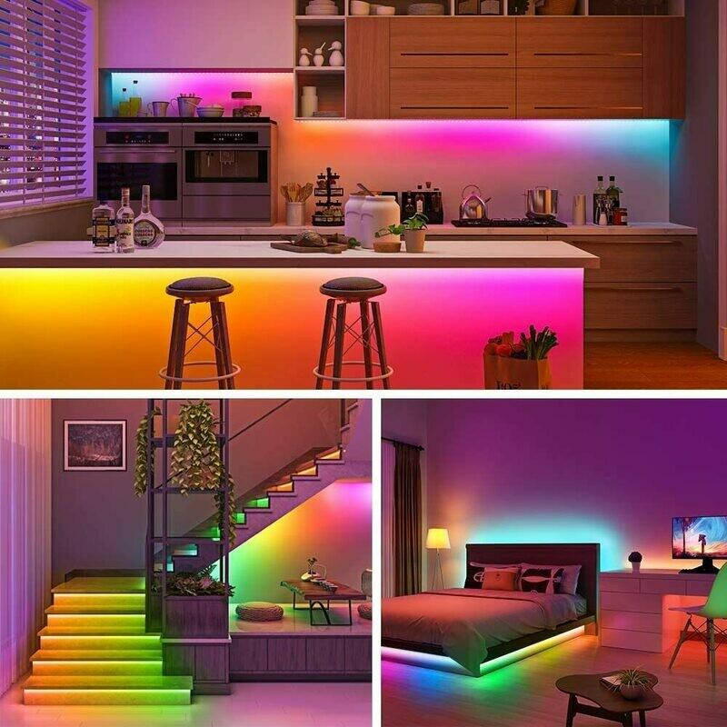 Luces LED 16 colores en tira de 5 metros