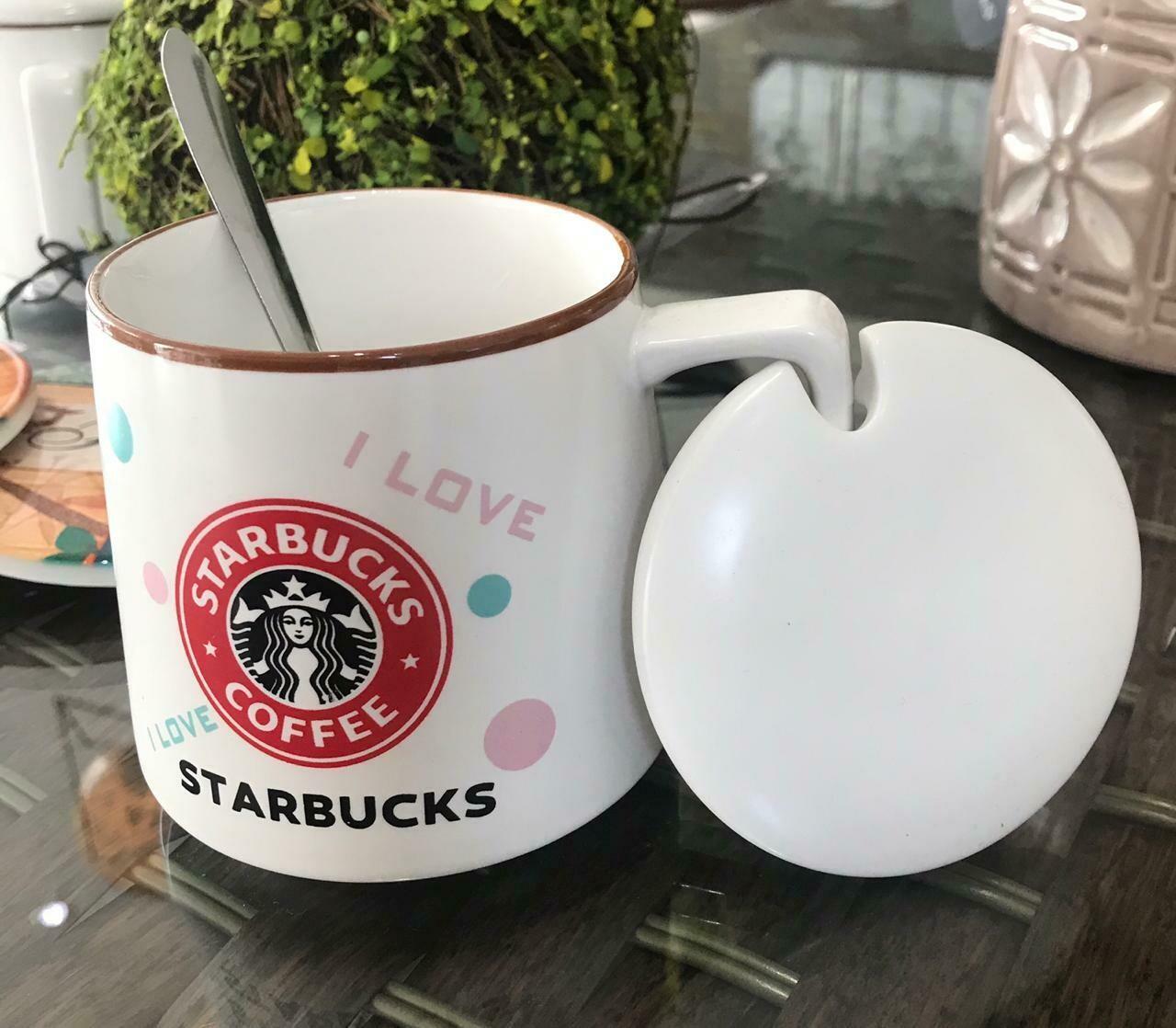Jarro Starbucks - VersionPastel  - Tapa Cerámica