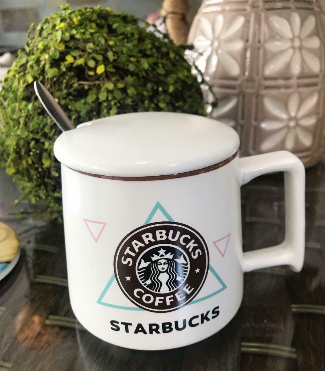 Jarro Starbucks 3 - VersionPastel  - Tapa Cerámica