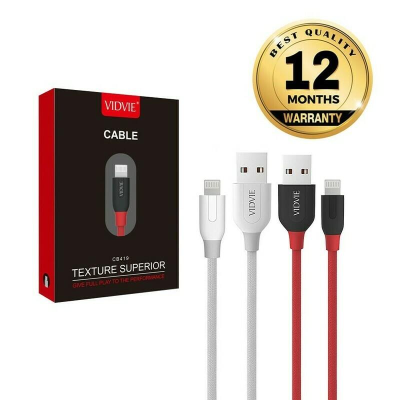 Cable cordón VIDVIE Iphone USB Cable CB419 / Carga Rápida