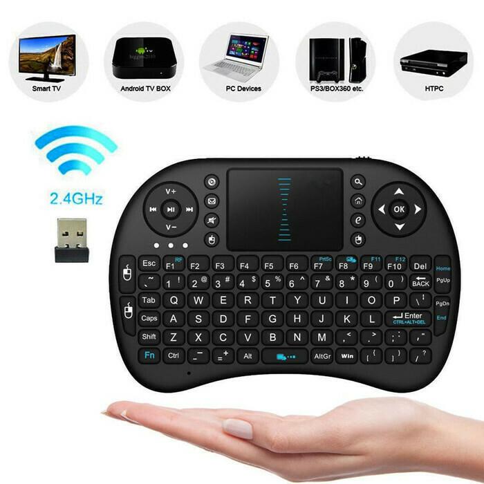 Teclado inalámbrico Touchpad Mouse y teclas multimedia