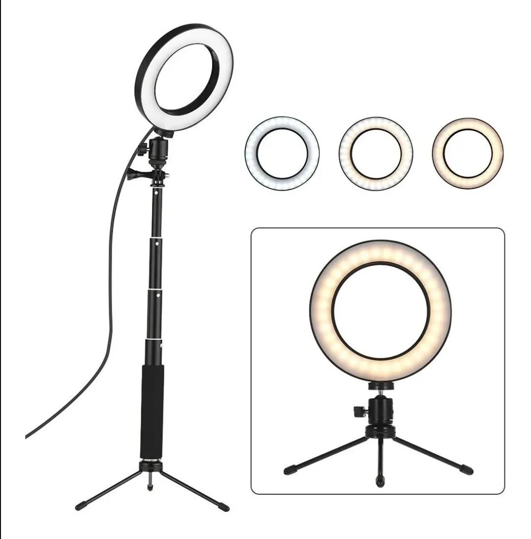 Aro de luz 12 pulgadas + tripode 2,10 de alto