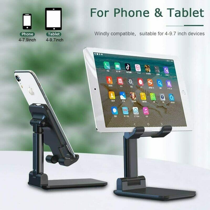 Soporte para teléfono móvil y tablet plegable