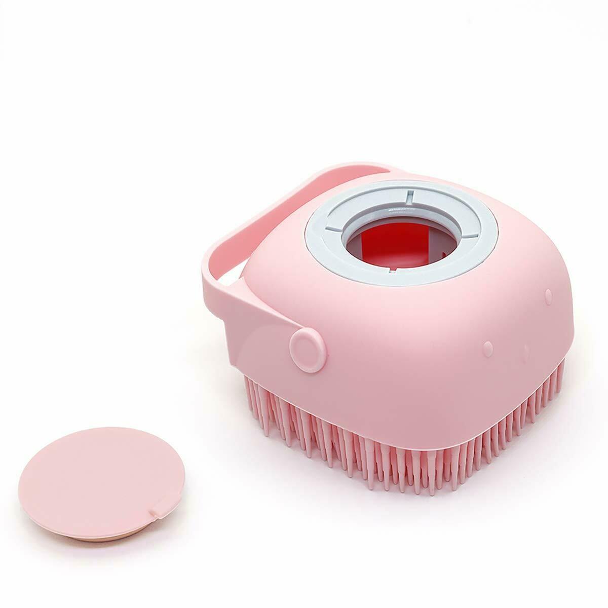 Cepillo exfoliante de silicona + dispensador de jabón