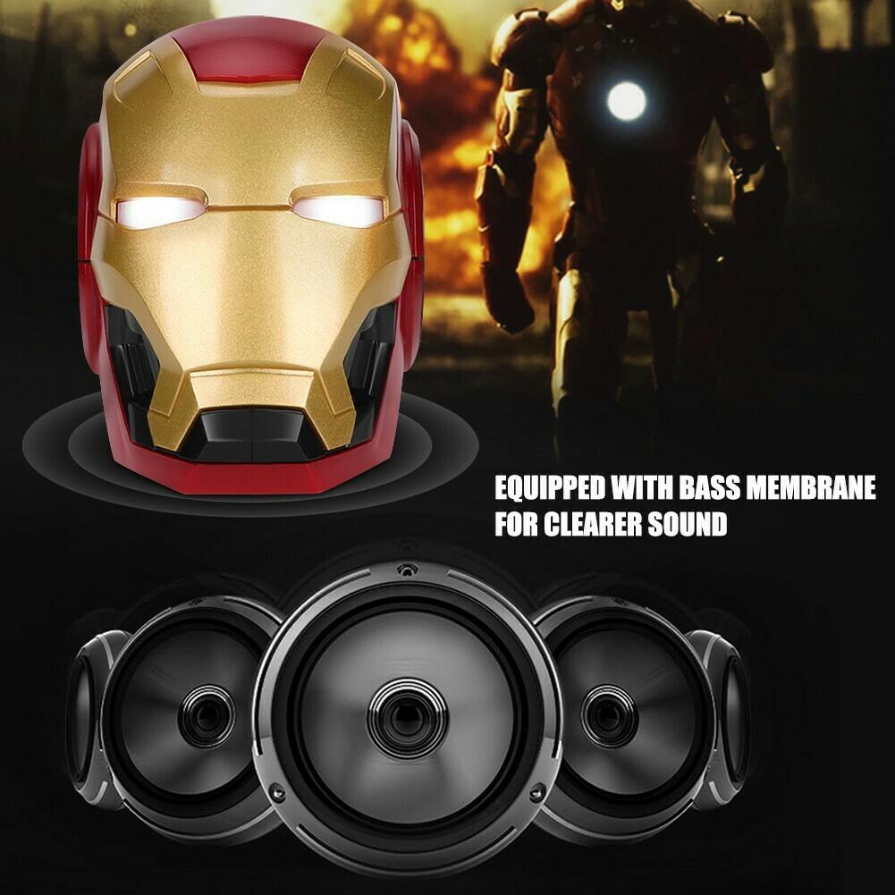 Parlante portable Iron Man - Mark 46  - Bluetooht inalámbrico.