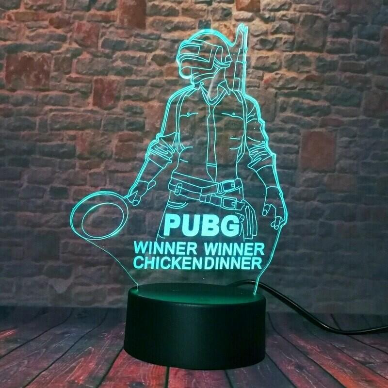 Lámpara 3D - PUBG
