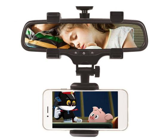 Soporte Universal de 360 ° para teléfono móvil y GPS para el retrovisor