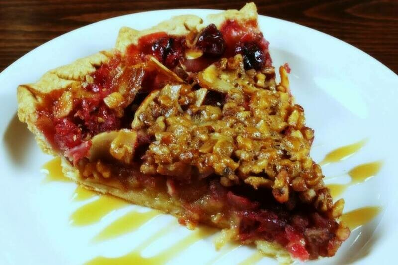 Three Nut Cranberry Pie