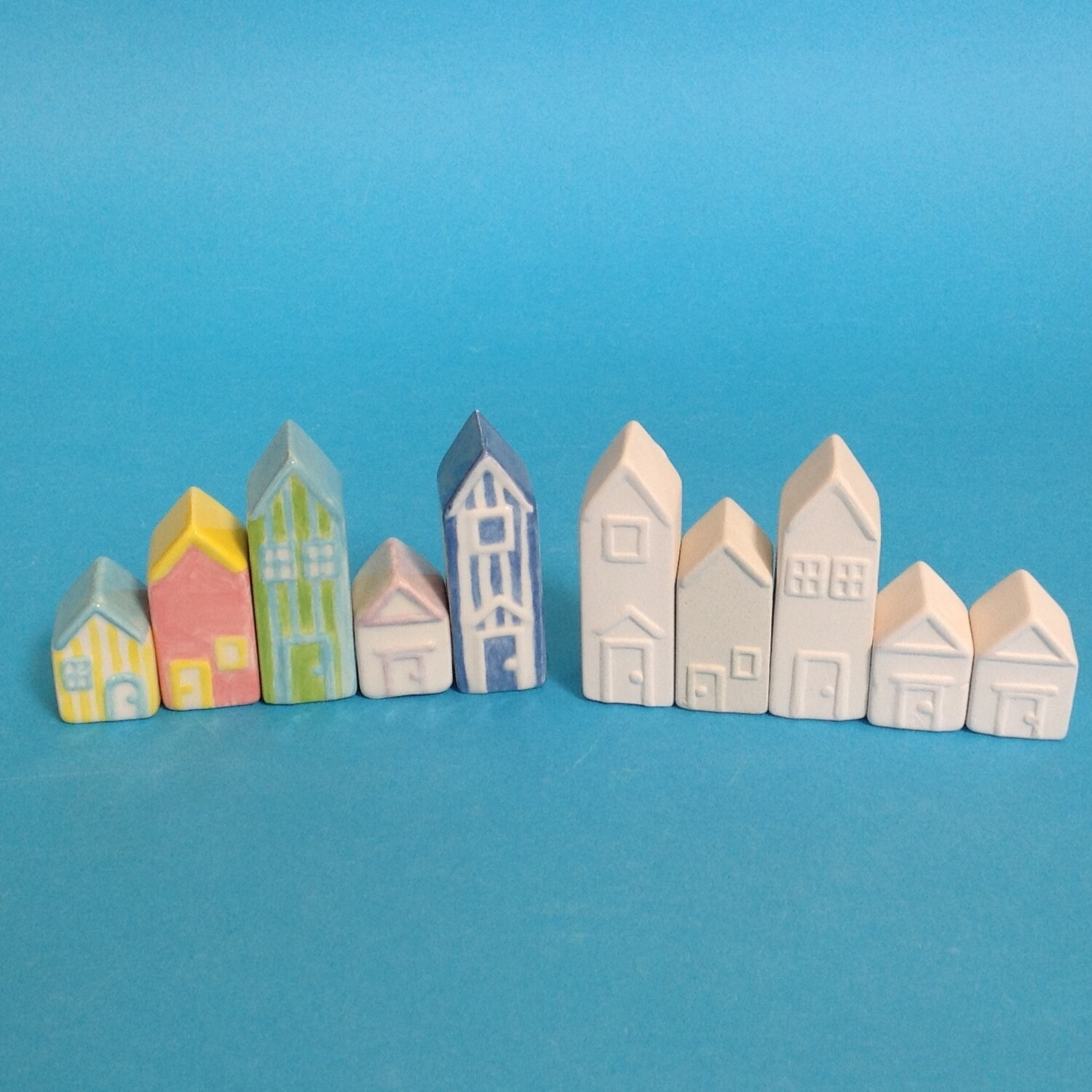 Houses, set of 5