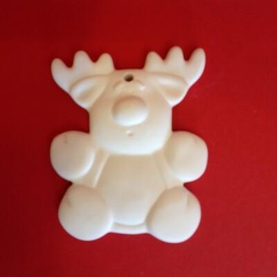 Reindeer flat hanging  ornament