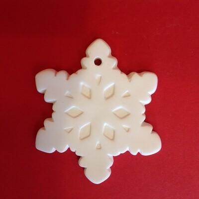 Snowflake flat hanging ornament