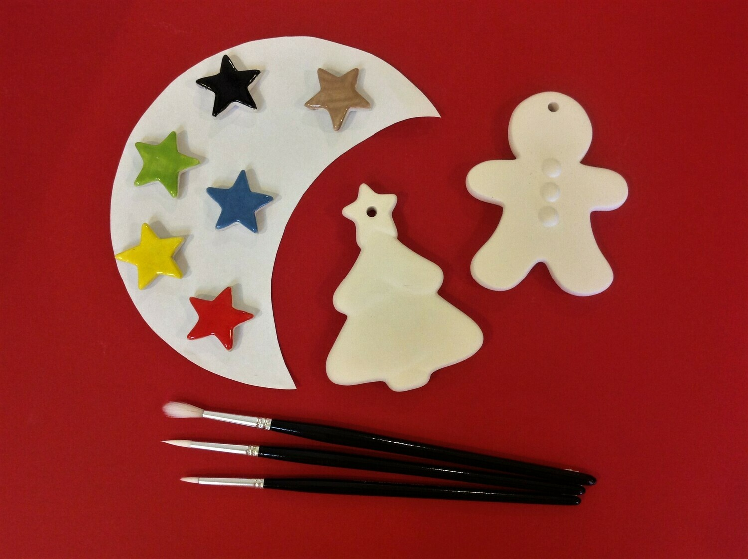 Christmas tree and gingerbread tree hangers