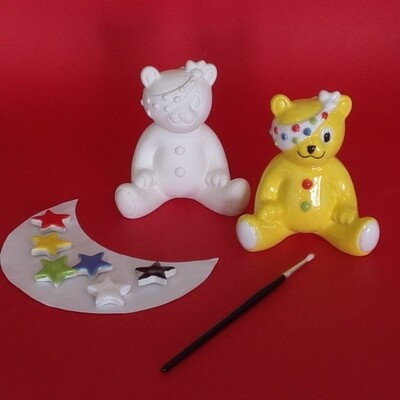 Pudsey - with brush and glazes (£5 To BBC Children in Need)