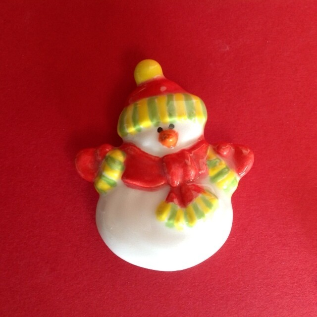 Snowman - tiny flat (with magnet)