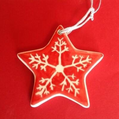 Star flat hanging ornament