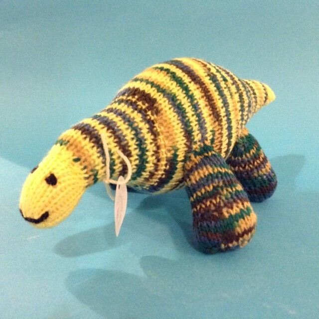 Dinosaur, striped, large