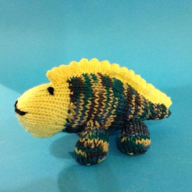 Dinosaur, striped, small