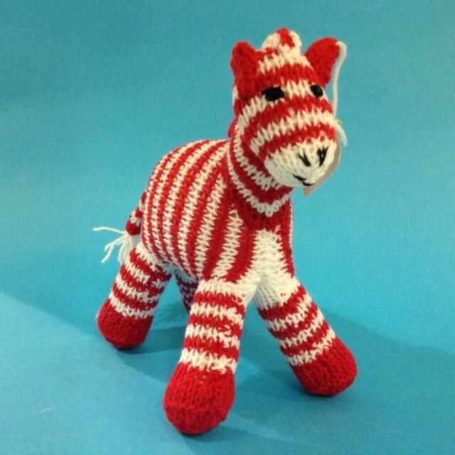 Zebra, red stripe