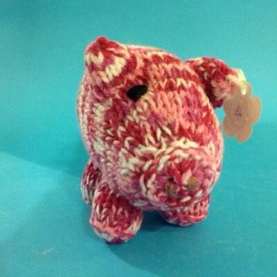 Pig, pink stripe