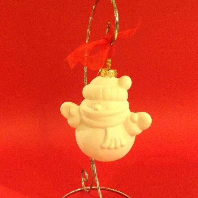 Snowman 3D hanging ornament