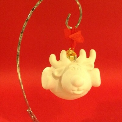 Reindeer flying ornament