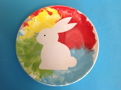 Easter plate using template