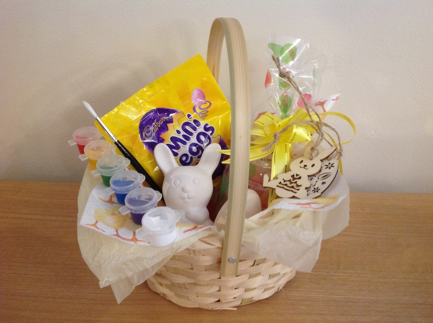 Easter Basket with Nibbles the  rabbit