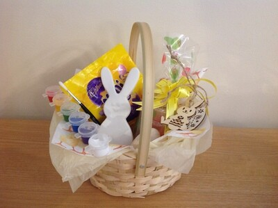 Easter Basket with standing rabbit