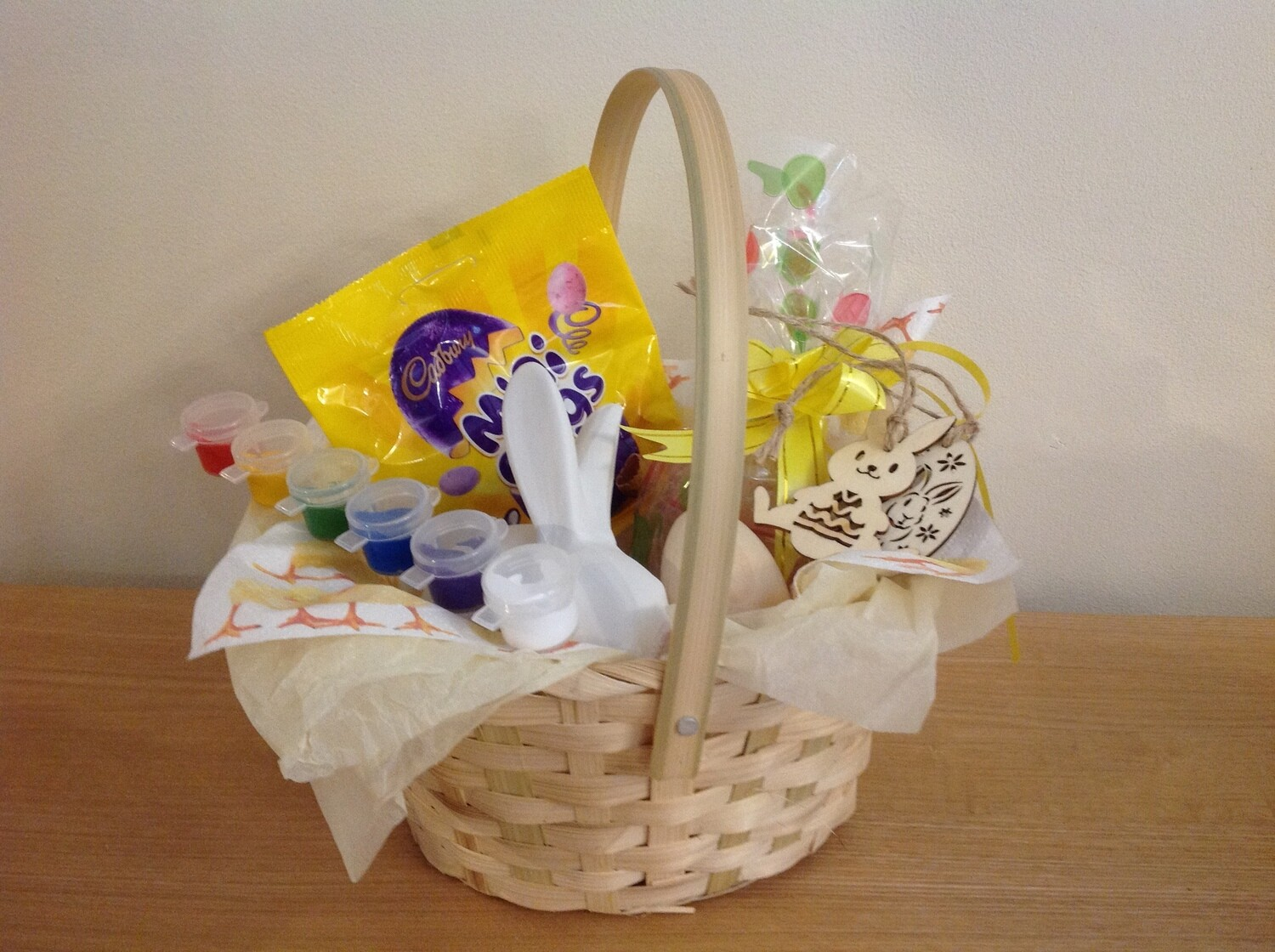 Easter Basket with sitting rabbit