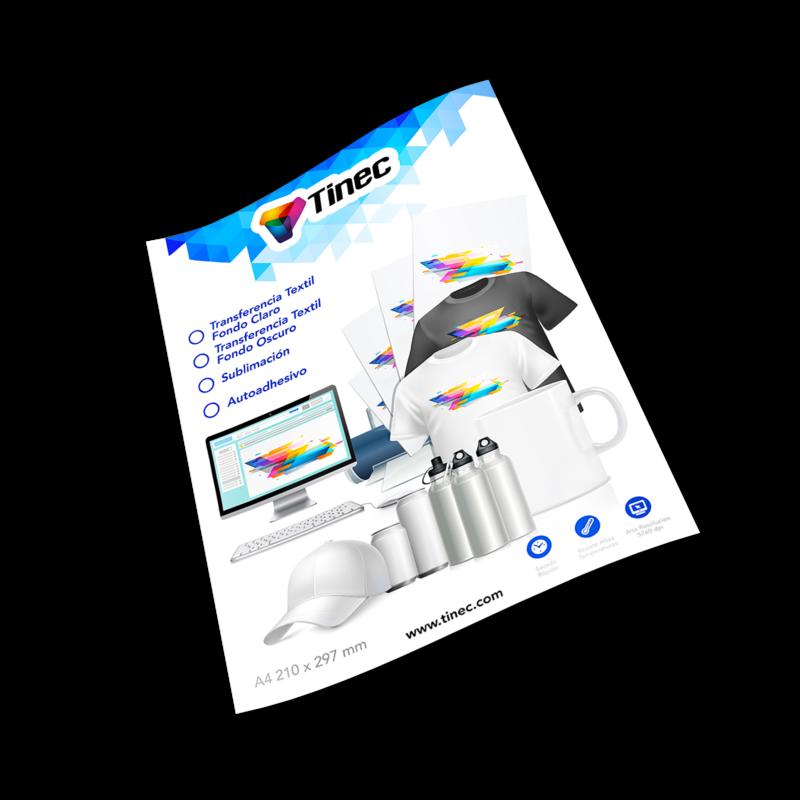 Papel A4 transferencia a textil para fondos oscuros 50 hojas - TINEC