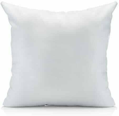 Funda blanca satinada para sublimación 40 x 40 cm.