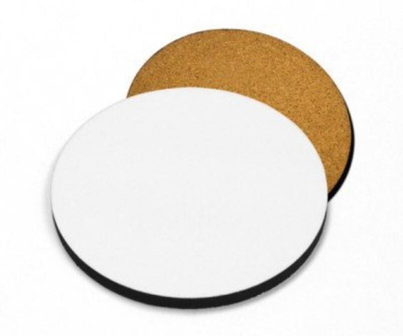 Portavasos redondo MDF para sublimación 95 mm de diámetro