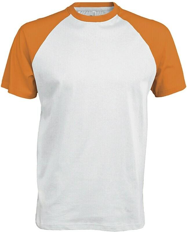 Tshirt de porliéster tacto algodón con mangas de colores