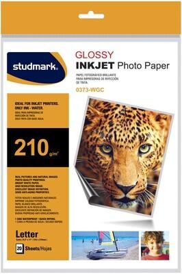 PAPEL FOTOGRAFICO DE 210gr GLOSSY/BRILLO INKJET 20 HOJAS