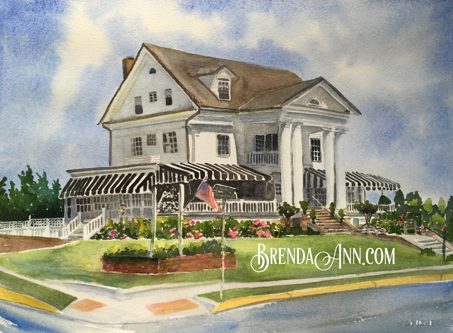 Peter Shields Inn of Cape May - Hand Signed Archival Watercolor Print