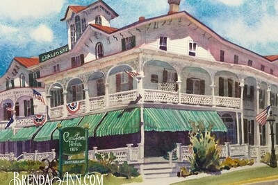 Chalfonte Hotel in Cape May, NJ - Hand Signed Archival Watercolor Print