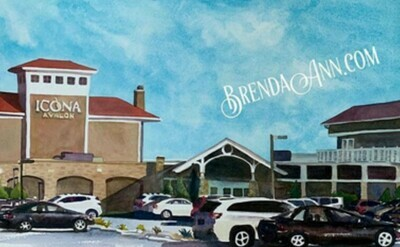 Icona Avalon in Avalon, NJ - Hand Signed Archival Watercolor Print
