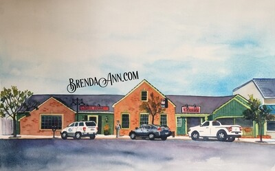 Fred's Tavern in Stone Harbor, NJ - Hand Signed Archival Watercolor Print