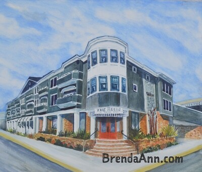The Reeds at Shelter Haven in Stone Harbor, NJ - Hand Signed Archival Watercolor Print