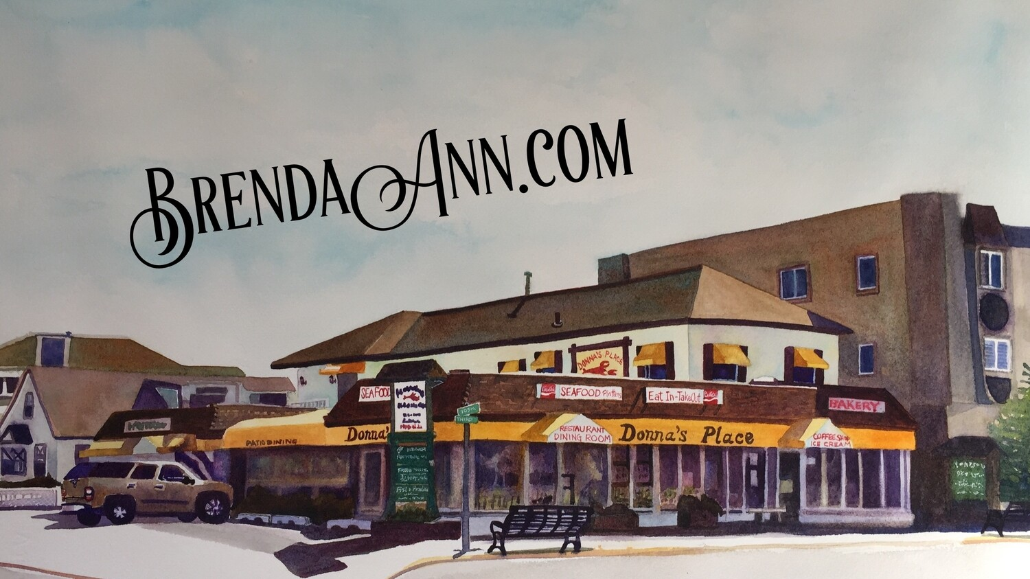 Donna's Place in Stone Harbor, NJ - Hand Signed Archival Watercolor Print