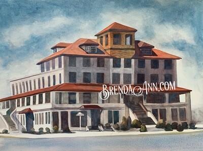 Hotel Shelter Haven in Stone Harbor, NJ - Archival Watercolor Print