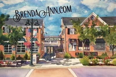 The Walk at Harbor Square in Stone Harbor, NJ - Hand Signed Archival Watercolor Print