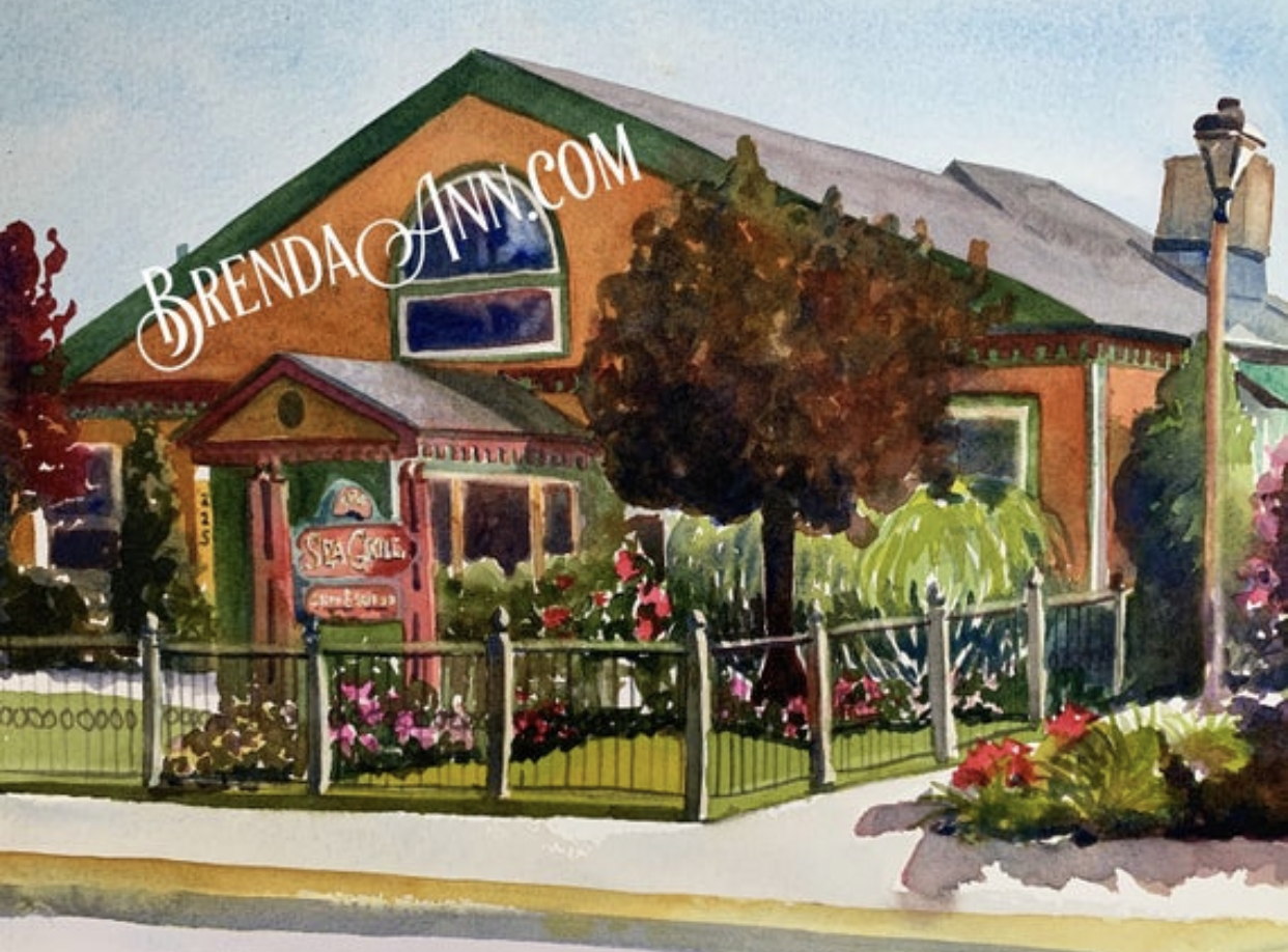 The Sea Grill in Avalon, NJ - Hand Signed Archival Watercolor Print