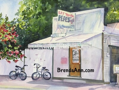 Pepe's Cafe in Key West, FL - Hand Signed Archival Watercolor Print
