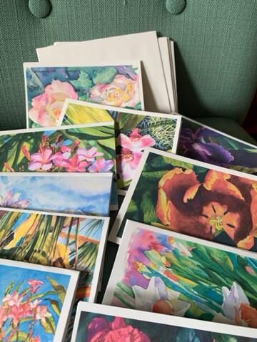 Set of 10 Assorted Note Cards + Envelopes