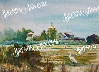 The Wetlands Institute in Stone Harbor, NJ - Hand Signed Archival Watercolor Print